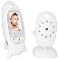 Wholesale ir temperature camera - Wireless Video Baby Monitor 2.0 inch Color Security Camera 2 Way Talk NightVision IR LED Temperature Baby Safety Monitoring with 8 Lullaby