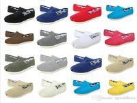 sağlam sürücü toptan satış-Marka Yeni Kadın Erkek Kanvas Ayakkabılar Daireler Loafer'lar Rahat Tek Ayakkabı Katı Sneakers Sürüş Ayakkabı Unisex Tom Espadrille Yürüyüş Ayakkabı