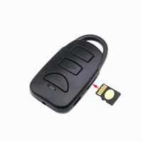 Wholesale new video card memory resale online - New Car Key Camera Full HD P Mini Camera Video Recording Photo Taking Support Memory Card Up to GB Sport Mini DV