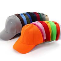 Wholesale baseball caps blanks resale online - Solid Color Adjustable Baseball Cap Blank Curved Visor Hat Hip Hop Cap Outdoors Sport Cap Colors OOA4440