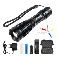 Wholesale bike lights high lumens resale online - CREE XML T6 Flashlight Torch Lumens Bike Light modes Torch Zoomable LED Flashlight Battery Charger