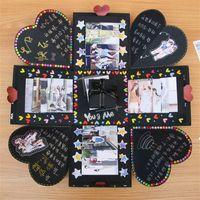 Wholesale digital albums online – design Creative Diy Explosion Box Surprise Gift Originality Hand Made Boxes Romantic Album Decor For Valentines Day Scrapbooking zr jj