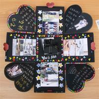ingrosso contenitore di regalo di sorpresa-Creativo fai da te esplosione scatola regalo sorpresa originalità scatole fatte a mano romantico album decor per san valentino scrapbooking 14zr jj