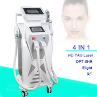 Wholesale tattoo skins for sale - Big Power ipl+Elight+SHR 3 in 1 permanent hair removal laser tattoo removal rf face lift beauty device for Sale
