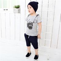 o kamera großhandel-Sommer Kinder Junge Kinder Kamera Kurzarm Tops O Neck T-Shirt T-Stücke Kleidung fit für 1-8years alten Jungen