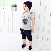 Wholesale o camera for sale - Group buy Summer Children Boy Kids camera short Sleeve Tops O Neck T shirt tees clothes fit for years old Boys