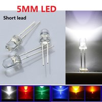 pajitas de luz led al por mayor-LED diodo 6 Color 1000 unids / lote a través del orificio 5 mm Sombrero de paja Ultra Brillante Kit de diodo LED Led 5 mm Sombrero de paja LED diodos de luz