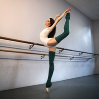 knitted thigh high socks 2018 - Woman Yoga Socks Gym Fitness Dancing Thigh High Pirouette Leg Warmer Sport Keep Warm Latin Long Section Knitting Socks SCL566