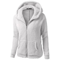 Wholesale Thick Cardigans For Women - Hot Fashion Autumn Winter Hoodies Clothing For Women Zipper Jacket Outwear Soild Color Cotton Sweater RF0724
