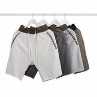 männer kurze hosen trend großhandel-Sommer-neue Baumwollhosen der Männer fünf lösen lose Hosen-Jugend-reine Farben-zufällige Mode-Tendenz-Hosen freies Verschiffen um