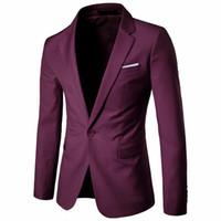 tasarlanmış resmi ceket toptan satış-2018 Yeni Varış Iş Erkekler Blazers Casual Resmi Popüler Tasarım Erkekler Uzun Kollu Elbise Suit Ceketler Artı Boyutu Için Sonbahar XF001