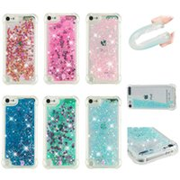 Wholesale Luxury Shockproof Quicksand Soft TPU Case For Apple Ipod Touch G G Four Corners Glitter Sparkle Heart Bling Liquid Love Moving Cover