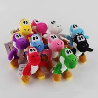 "Wholesale stuffed yoshi - 100% Cotton 10pcs Lot 4"" 10cm Super Mario Bros 10pcs Lot Yoshi Plush Toys Stuffed Soft Toys Kids Gift"