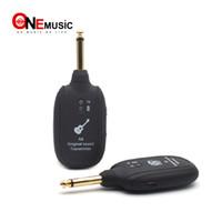 verici alıcı sistemi toptan satış-UHF Kablosuz Kablo Gitar Verici Alıcı Sistemi Dahili Şarj Edilebilir Pil 50 M Elektrik Gitar Bas için Iletim Aralığı