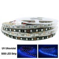 UV Ultraviolet Led Strip 5050 60LEDs m DC12V Waterproof   Non Waterproof Neon Tape lamp 5M