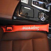 auto accessory al por mayor-Nuevo asiento de coche de cuero de imitación grietas inserciones Rellenos de huecos Práctico Negro Holster Spacer Auto Clean Slot Plug Accesorios para automóviles