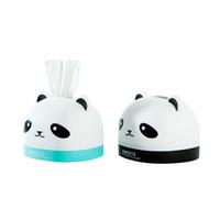 Wholesale panda papers - Panda Tissue Box Pumping Paper Container Napkin Holder Storage Box Desk Organizer Office Desktop Table Living Room
