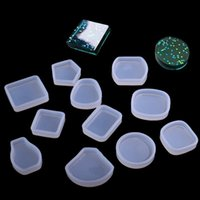 Wholesale square rubber moulding resale online - DIY Square Rectangle Circular Sector Crystal Glue Mold Portable Manual Ornaments Transparent Baking Moulds Kitchen Tools zq bb