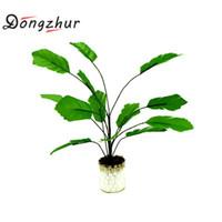 ingrosso bonsai trees-Dongzhur Mini Plant Bonsai 1:12 Doll House Accessories Miniature Case Decorazioni Green Plant In vaso in vaso Mini piante