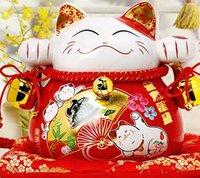 tirelires chat chanceux achat en gros de-Lucky cat chat ornements cadeau créatif Accueil ouvert en céramique Piggy tirelire 2069 grand chat découpe meurt emboutir spinner craft