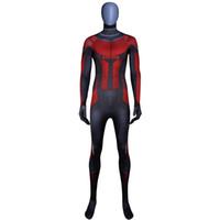 costumes de fourmis achat en gros de-Costume Ant-Man fait sur mesure Impression 3D Costume Super-héros Costume d'Halloween Body Cosplay et masque