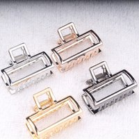 Wholesale 2018 new European and American style fashion and retro alloy hair clamps simple bath hair clip Fashion hair jewelry