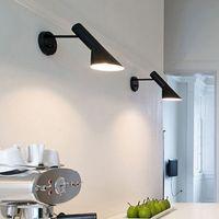 luzes de cabeceira modernas venda por atacado-Arandela Moderna Iluminação Montado Na Parede Luz de Leitura de Cabeceira lâmpada de Parede Criativa Sala de estar Foyer Casa Iluminação Arandelas de Parede Rústico