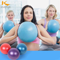 yoga-balance-übungen großhandel-Mini Yoga Ball Trainer Körpermassage Bälle Fitness Pilates Balance Zubehör Home Übung Gym Waren 25 Cm 4 8kt Ww