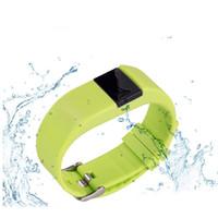mix de monitor venda por atacado-TW64S Pulseira À Prova D 'Água Monitor de Freqüência Cardíaca Pulse Rastreador Pulseira Smartband OLED À Prova D' Água com Pedômetro cores misturadas