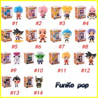 Wholesale goku action toy - FUNKO POP Dragon Ball Z Son Goku Vegeta Piccolo Cell PVC Action Figure Collectible Model Retail action figures surprise doll for kids toys