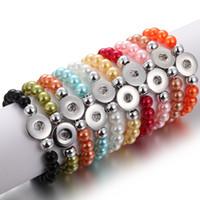 noosa perlen schnappen großhandel-Großhandel Noosa Chunks Armband Perlen 18mm Snap Armband DIY Druckknopf Armbänder Erklärung Schmuck