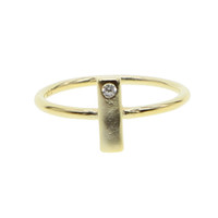 rings white finger carat name ring gold plate two