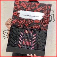 leimmarken großhandel-M Make-up Make-up Set 12 Lippenstift + 12 Lipgloss + 12 Lip Liner Kleber Pen Full Cosmetic Set 36 in 1 Kit