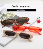 Wholesale water drop frame - New Drop of water Sunglasses Oval Sunglasses Ultra Small Frame Ocean Sunglasses Personal Eyewear for Men and Women