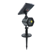 ingrosso luci a energia solare verde-Red Green Solar Powered LED Lawn Light Lamp Lampeggiante Paesaggio Laser Luce di Natale Party Garden Home Yard Light