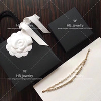 Wholesale beaded snake bracelet for sale - Group buy Popular fashion brand High version Double Pearl Bracelet for lady Design Women Party Wedding Luxury Jewelry for Bride with BOX
