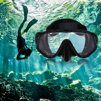 ingrosso grandi gonne-Nuovo arrivo Immersione protettiva Gonna in silicone Strap Snorkel Mask Goggle with Great VisionTempered Glass Diving Set