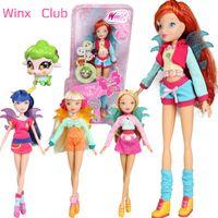 figur club großhandel-Liebe Pet City Girl Winx Club Puppe Regenbogen bunte Mädchen Action-Figuren Fairy Bloom Puppen mit klassischen Spielzeug für Mädchen Geschenk