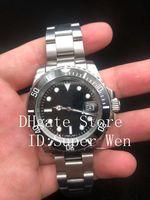 Wholesale automatic self winding watch - Black Luxury Ceramic Bezel Mens Mechanical Stainless Steel 116610 116613 Automatic Movement Watch Sports Self-wind Watches Wristwatch