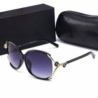 tasarımcı güneş gözlük kutusu toptan satış-Tasarımcı Güneş Gözlüğü Bayan Lüks Güneş Gözlüğü Için 2019 Yeni Moda Kamelya Güneş Gözlükleri Kutusu ve Kılıf Ile