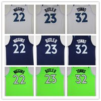 Wholesale blue jimmies - NCAA Fan 2018 New Mens #23 Jimmy Butler Jersey #32 Karl-Anthony Towns #22 Andrew Wiggins Basketball Jerseys Blue Black White Green Shirt