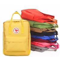 Wholesale Light Purple Canvas Backpack - couple backpack classic mini rucksacks unisex canvas students shoulder Student bags handbags Schoolbag Girl boy Free shipping