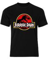 Wholesale parks prints - Jurassic Park Logo T Rex Dinosaur Fossils Movie Adventure Men T shirt AM29