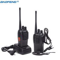 émetteur-récepteur d'écouteur achat en gros de-2pcs / lot BAOFENG BF-888S Talkie-walkie UHF Radio bidirectionnelle baofeng 888S UHF 400-470MHz 16CH Émetteur-récepteur portable avec écouteur