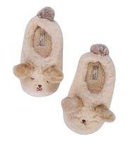 tierstiefel großhandel-Frauen Fuzzy Soft Warm Comfort Hausschuhe Cartoon Bär Coral Fleece Memory Foam Plüsch Futter Baumwolle Schuhe Booties Cute Animal Flip Flop