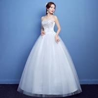 aus weiße brautkleider farbe großhandel-Benutzerdefinierte Plus Size Hochzeitskleid Spitze Vintage Tüll Ballkleid Günstige Brautkleider Brautkleid
