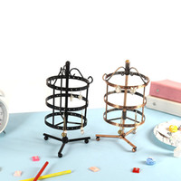 Wholesale Jewellery Stand Earrings - Classical Earring Frame Rotatable Jewellery Stand Multi Color Solid Metal Display Frames Home Living Room Novelty Storage Racks 21md X