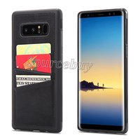 Wholesale android cell phone cases for sale – best Good Quality Leather PU For Samsung Note8 Cell Phone Case Cover Card Pocket luxury PU PC Shell for Galaxy Note Smartphone Android