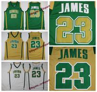 Mens LeBron James St. Vincent Mary High School Irish Jerseys Basketball  Shirts LeBron James  23 Stitched Jerseys Cheap Shirts S-XXL ab3dafa2c