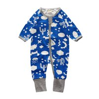 ingrosso vendite pigiami baby-Vendita calda Tuta colorata Autunno Baby Cotton manica lunga tute o-collo Pagliaccetto per bambini vestiti per bambini pigiama tute per bambini
